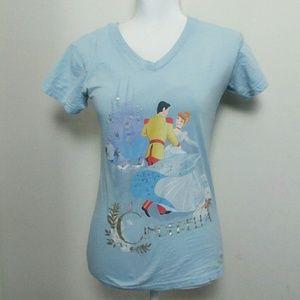 Disney Store Cinderella V-neck Cotton Graphic Tee